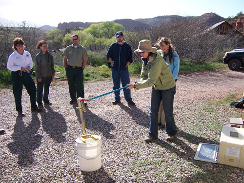 USFS-campground-host-snake-training2 nelson